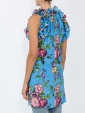 Gucci - Floral Print Tunic Top Blue - Women