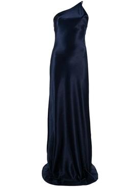 Roxy Metallic Evening Dress NAVY BLUE