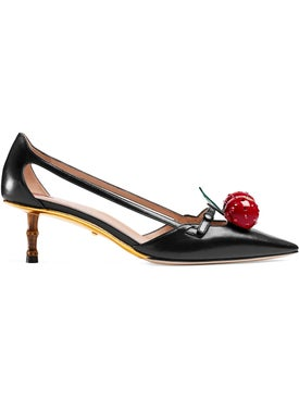 Gucci - Leather Cherry Pumps - Women