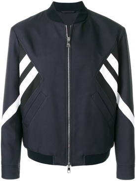 striped bomber jacket NAVY