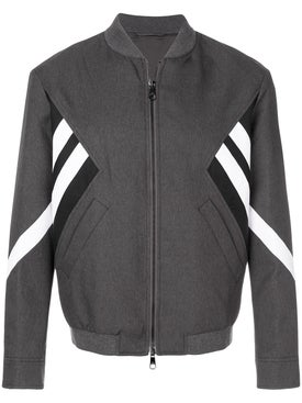Neil Barrett - Striped Bomber Jacket Grey - Men