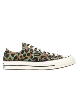 x INVINCIBLE x Wacko Maria Green leopard print sneakers
