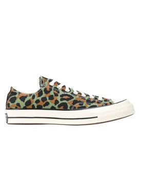 Converse - Green Leopard Print Sneakers - Men
