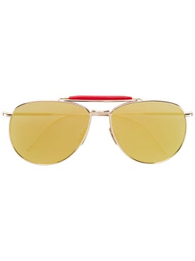 Thom Browne - Mirrored Aviator Sunglasses - Men
