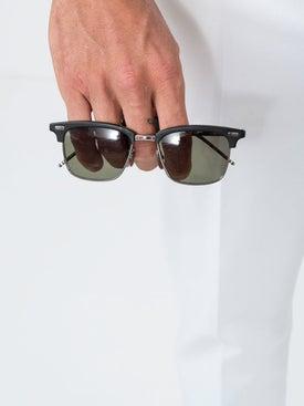 Thom Browne - Black Square Frame Sunglasses - Women