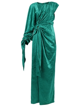 Catherine One-Shoulder Gown Green