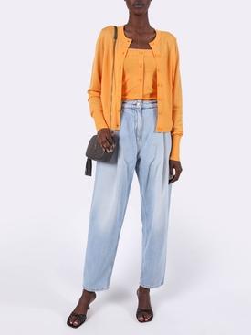 Apricot Cardigan Wool Knit Sweater
