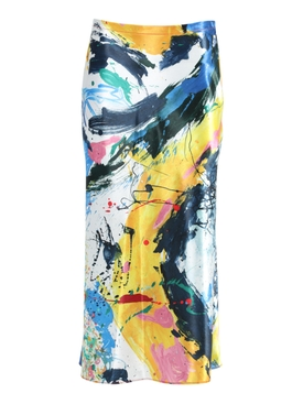 Aliya Multicolored Print Midi Skirt