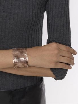 bronze disc cuff bracelet
