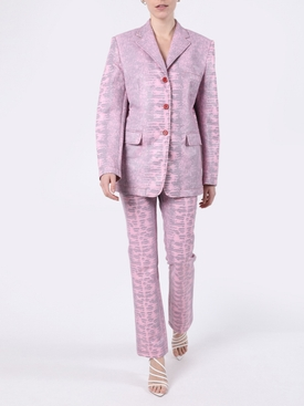 Pink Molly Embossed Lizard Blazer