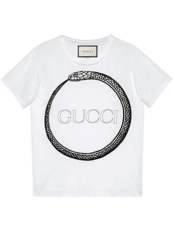 50294beb Gucci - Gucci Ouroboros Print T-shirt - Men