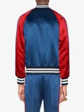 Gucci - Gucci Stripe Reversible Acetate Bomber Navy - Men