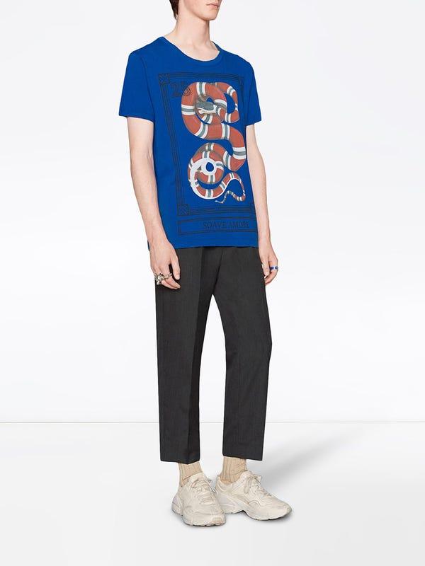 626b52cb Gucci - Kingsnake Print T-shirt - Men