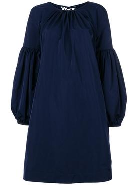 bell-sleeved dress BLUE
