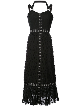 jacquard sleeveless dress