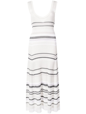 Sleeveless knit dress WHITE