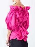Stella Mccartney - Off-the-shoulder Belted Blouse Pink - Women