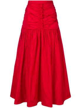 fitted waist skirt RED