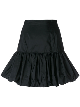 gathered hem skirt BLACK