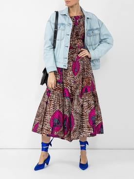 strapless design dress MULTICOLOR