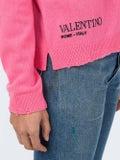 Valentino - Pink Is Punk Jumper - Knitwear