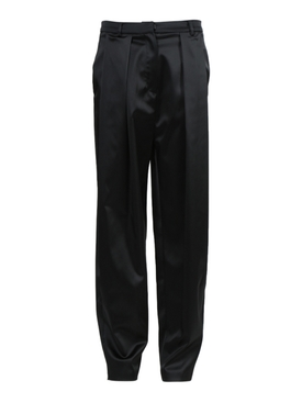 Magda Butrym - Black Satin High-waisted Harwich Pants - Women