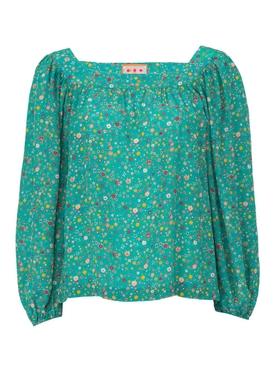 the bird street blouse GREEN