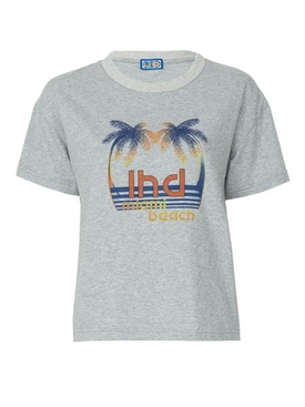 grey palm tree print tee