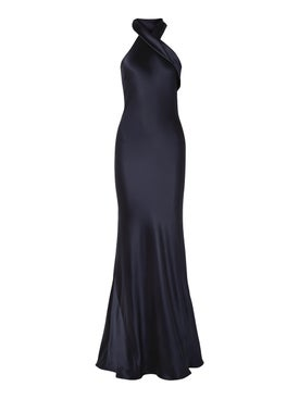 Galvan - Navy Silk Gown - Women