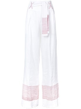 Gul Hurgel - High-waisted Wide Leg Trousers - Women