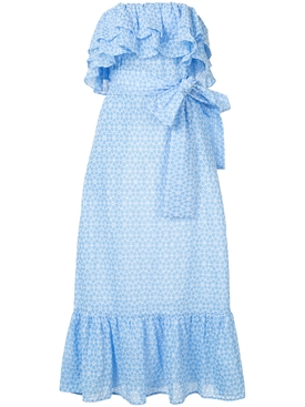 sabine ruffle eyelet dress BLUE