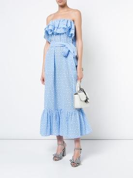 sabine ruffle eyelet dress BLUE