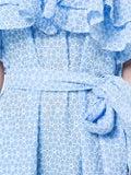 Lisa Marie Fernandez - Sabine Ruffle Eyelet Dress Blue - Women