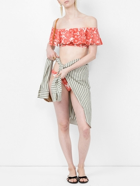 Mira Flounce off-the-shoulder printed bikini to
