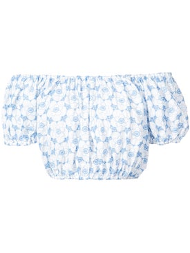 Lisa Marie Fernandez - Leandra Crop Top Blue - Women