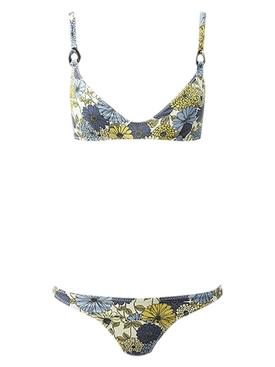 magdalena multi floral d-ring bikini MULTICOLOR