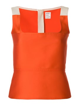 Maison Rabih Kayrouz - Orange Fitted Woven Top - Women