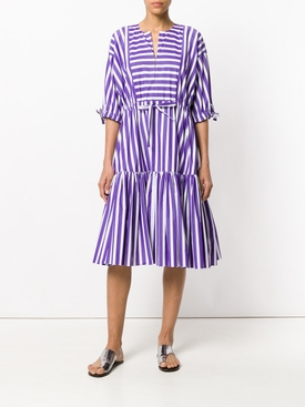 striped flared dress PURPLE