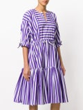 Maison Rabih Kayrouz - Striped Flared Dress Purple - Women