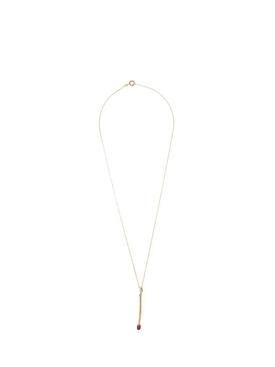 'Match' diamond and ruby pendant