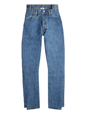 high waisted denim jeans BLUE