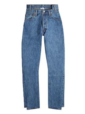high waisted denim jeans BLUE