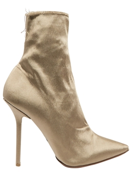 Naked Satin ankle boots BROWN