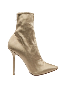 Naked Satin hankle boots BROWN