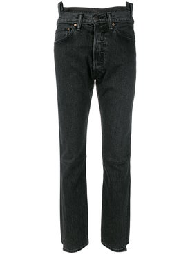 Vetements - High Waisted Denim Jeans Black - Women