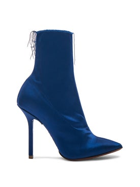 Vetements - Naked Satin Hankle Boots Blue - Women