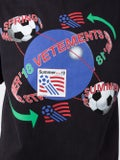 Vetements - Football Print Tee Shirt Black - Men