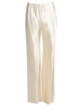 Ivory satin gala pants