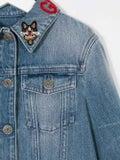 Gucci Kids - Embroidered-collar Denim Jacket - Kids