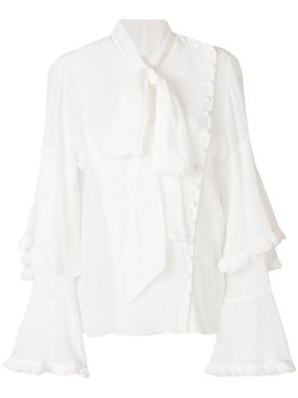 Chloé - Asymmetric Bow Blouse - Women